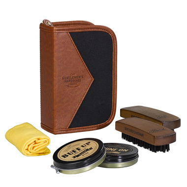 Gentlemen\'s Hardware Shoe Shine Kit Charcoal