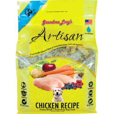 Grandma Lucy\'s Artisan Chicken Recipe Freeze-Dried Grain-Free Dog Food