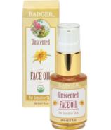 Badger Unscented Face Oil For Sensitive Skin