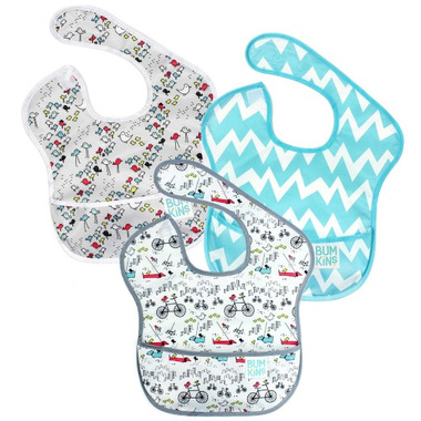 Bumkins SuperBib Bird Park, Urban Bird & Blue Chevron