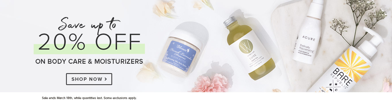Save up to 25% on Body Care & Moisturizers