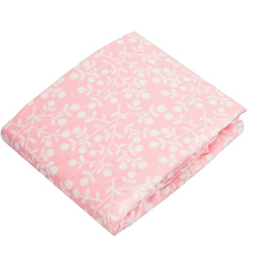 Kushies Flannel Bassinet Pad Fitted Sheet Berries Pink