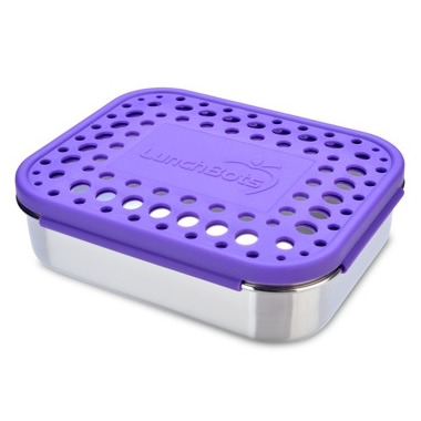 LunchBots Uno With Dots Purple