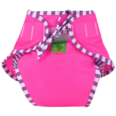 Kushies Washable Swim Diaper Pink