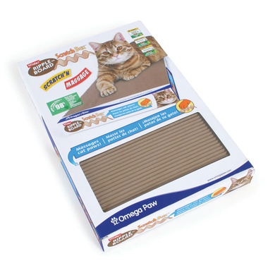 Omega Paw Ripple Board Scratch Box Wide