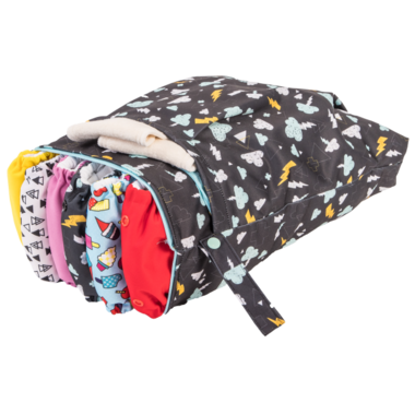 Funky Fluff Double Pocket Wet Bag Thunderstruck