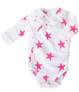 aden + anais Long Sleeve Kimono Body Suit Shocking Pink Medium Star