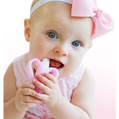 Baby Banana Infant Teething Toothbrush Pink