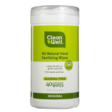 CleanWell All-Natural Hand Sanitizer Wipes