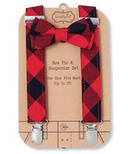 Mud Pie Buffalo Checker Suspender Set
