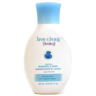 Live Clean Baby Travel Size Tearless Shampoo & Body Wash