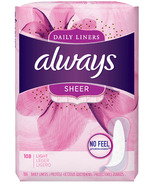Always Sheer Daily Liners Light