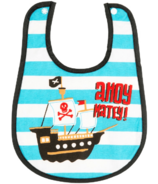 Little Blue House Infant Coated Bib Pirates