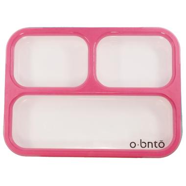 o bnto Bento Box 3 Compartment Pink