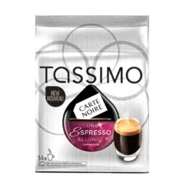 buy tassimo carte noire long espresso at free shipping 35 in canada. Black Bedroom Furniture Sets. Home Design Ideas