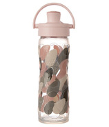 Lifefactory Glass Bottle with Active Flip Cap & Silicone Sleeve Blush