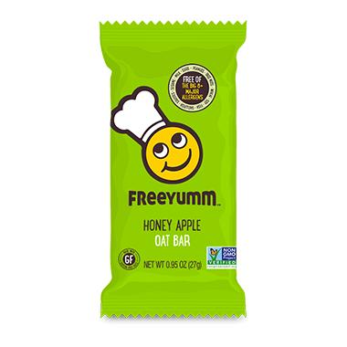 FreeYumm Honey Apple Oat Bars