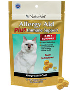 Naturvet Cat Allergy Aid Plus Immune Support Soft Chews