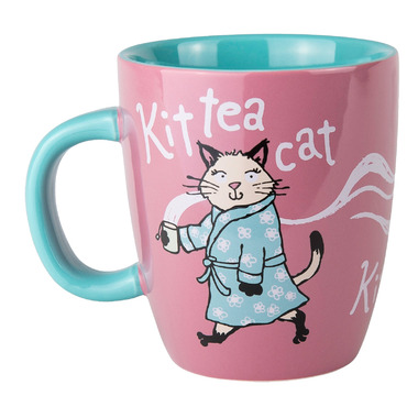 Little Blue House Ceramic Mug Kit Tea Cat