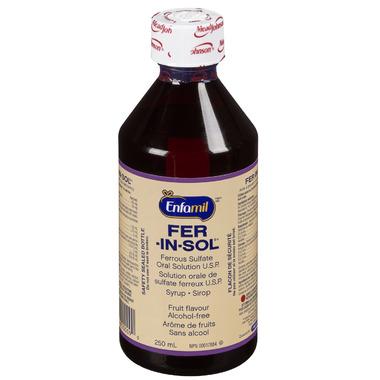 Enfamil Fer-In-Sol Liquid Ferrous Sulfate Oral Solution U.S.P