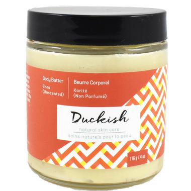 Duckish Natural Skin Care Unscented Shea Body Butter