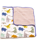 Little Unicorn Cotton Muslin Quilt Dino Friends