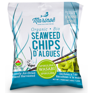Marinoe Seaweed Chips Spirulina Wasabi