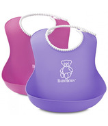 BabyBjorn Soft Bibs Pink & Purple