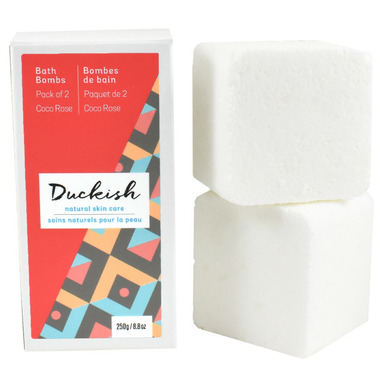 Duckish Natural Skin Care Coco Rose Bath Bombs 2 Pack