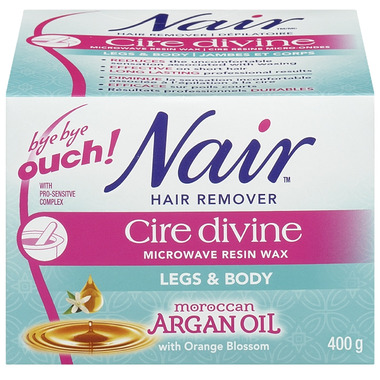 Nair Cire Divine Microwave Resin Wax with Moroccan Argan Oil