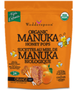 Wedderspoon Organic Manuka Honey Pops Orange