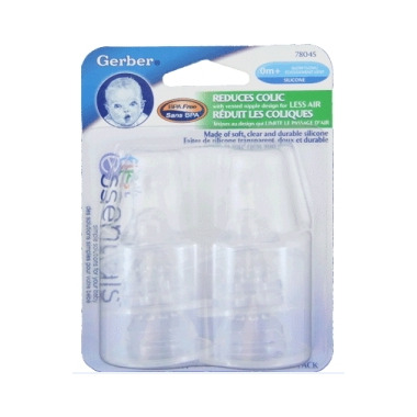 Gerber First Essentials Slow Flow Silicone Nipples