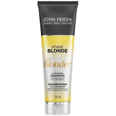 buy john frieda sheer blonde go blonder lightening shampoo at free shipping 35 in canada. Black Bedroom Furniture Sets. Home Design Ideas