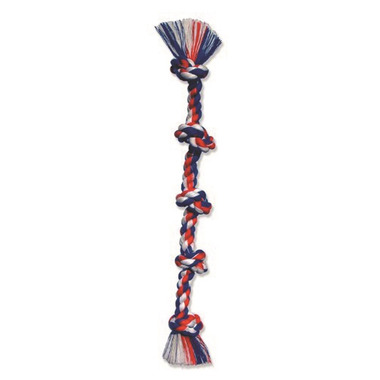Mammoth Super XL 72 Inch Cottonblend 5 Knot Rope Tug Dog Toy
