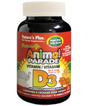 Nature's Plus Animal Parade Sugar Free Vitamin D3 Chewable