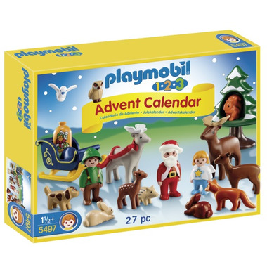 Buy playmobil 1 2 3 advent calendar christmas in the forest at free shipping 35 in - Adventskalender duplo ...