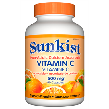Sunkist Vitamin C non-acidic Calcium Ascorbate 500mg