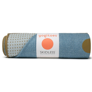 Manduka yogitoes Skidless Towels Denim Collection Chambray
