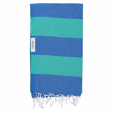 Lualoha Turkish Towel Buddhaful Blue & Sea Green
