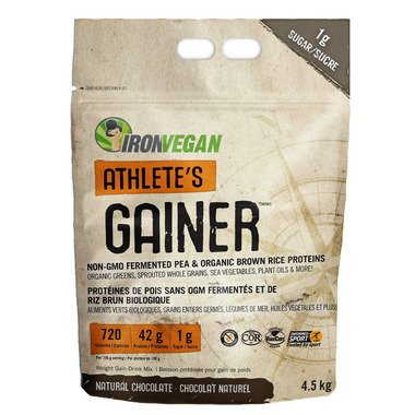 IronVegan Athlete\'s Gainer Protein Natural Chocolate