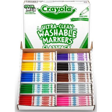 Crayola Fine Line Washable Markers Classpack