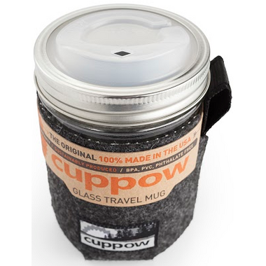 Cuppow Wide Mouth Glass Travel Mug