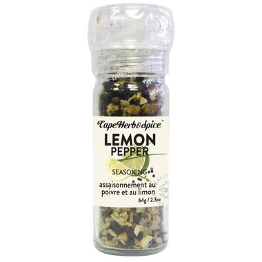 Cape Herb & Spice Table Top Grinder Lemon Pepper