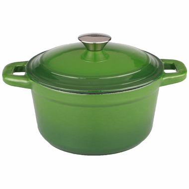 BergHOFF Neo 5 Quart Cast Iron Round Covered Casserole Green