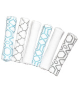 Kushies Wash Cloths Turquoise & Grey