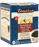 Teeccino Dandelion Red Chai Chicory Herbal Tea