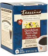Teeccino Dandelion Red Chai Chicory Herbal Tea