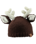 Bedford Road Brown Knitted Deer Ears Hat