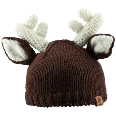 Bedford Road Brown Knitted Deer Ears Hat