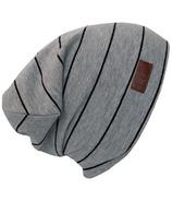 L&P Apparel Cotton Slouchy Beanie Gray & Black